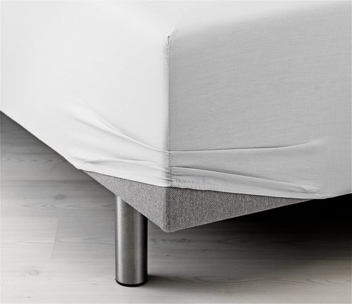 Sateen Fitted sheet SGL white KRONBORG