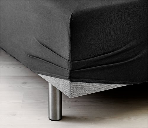 Jersey sheet DBL/KNG black KRONBORG