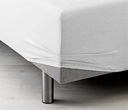 Plahta s gum. 160x200x35cm bijela