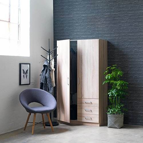Fotelja KAPPEL tamnosiva/hrast