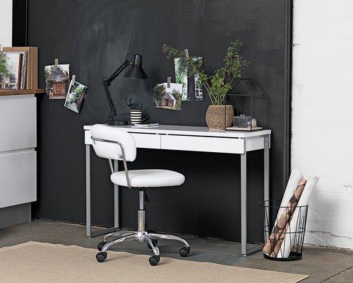 Skrivebord STEGE 40x120 hvit høyglans