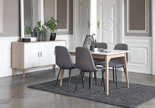 Spisebordsstol JONSTRUP grå/sort