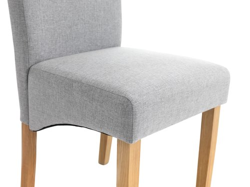 Dining chair BORUP light grey/ash