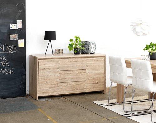 Ruokapöydän tuoli HAMMEL valkoinen/kromi