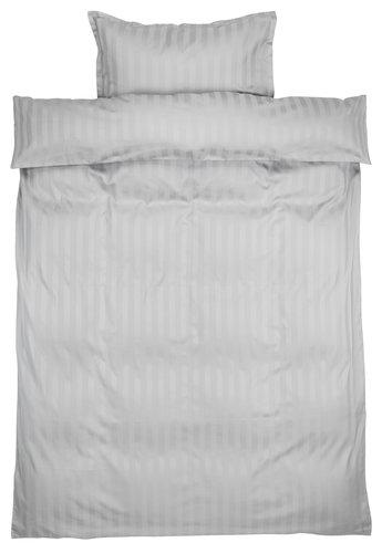 Set posteljine NELL saten 140x200 siva