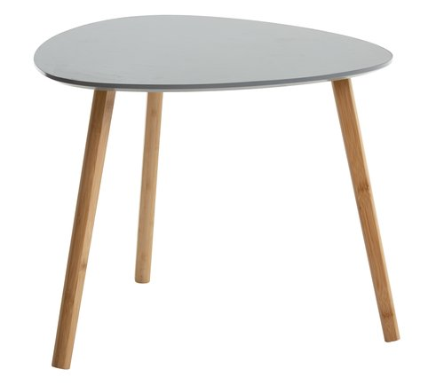 End table TAPS 55x55 cm grey/bamboo