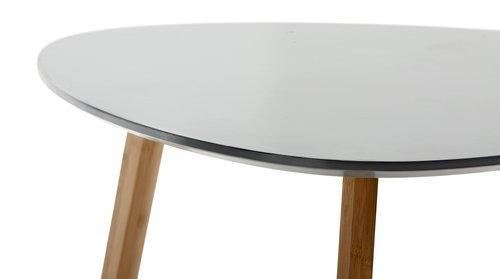 Stolić TAPS 55x55 siva/bambus