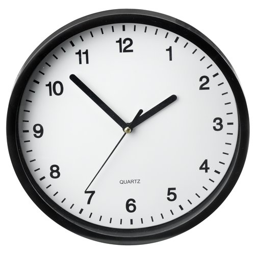 Wall clock ELVART D23cm black/white