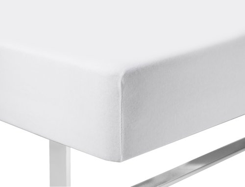 Ζέρσεϊ σεντόνι 120x200x40cm λευκό