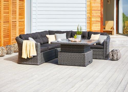 Loungeset TAMBOHUSE 5-sits grå