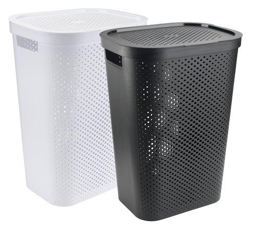 Tvättkorg INFINITY plast svart