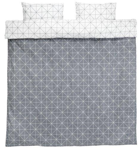 Bedding set ATLA DBL grey