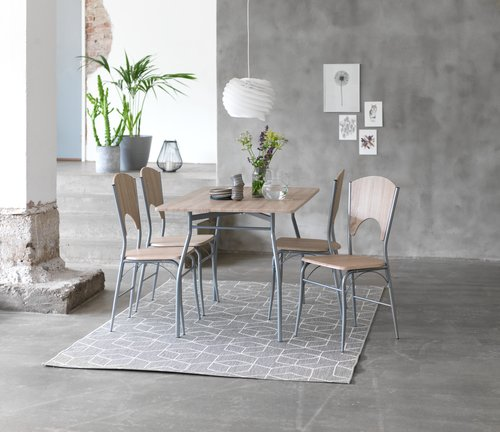 Tæppe BALSATRE 160x230 grå/hvid