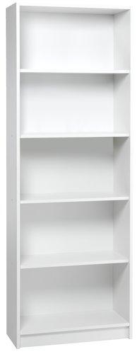 Bookcase HORSENS 5 shlv. white