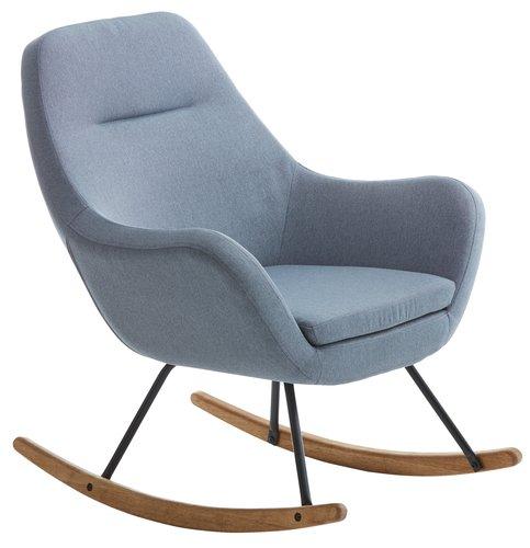 Κουνιστή πολυθρόνα NEBEL ανοιχτό μπλε