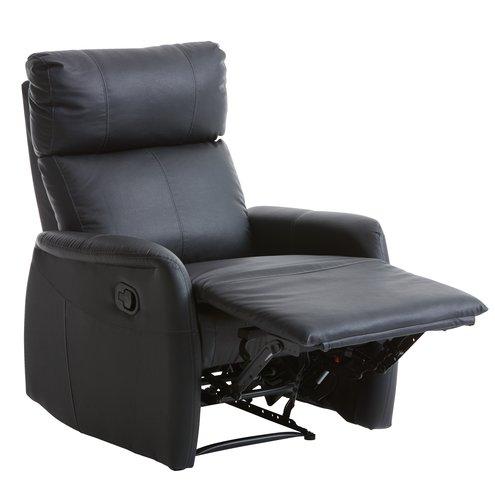 Poltrona reclinabile VEJEN nero