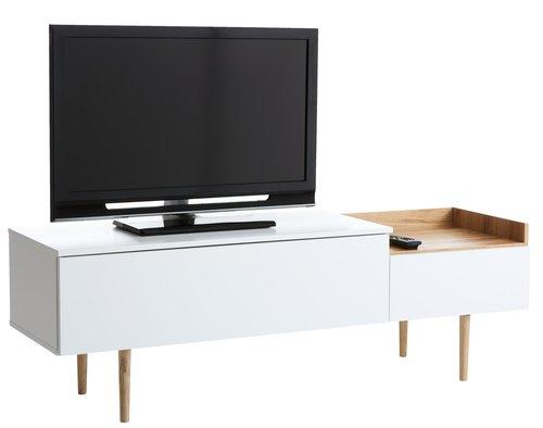 TV bench AARUP white/oak