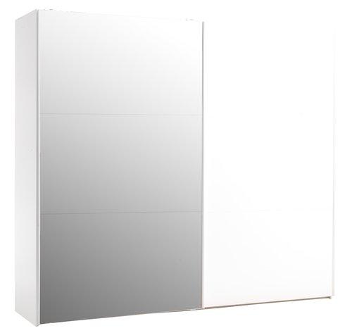 Skap ONSTED 250x221 m/speil hvit