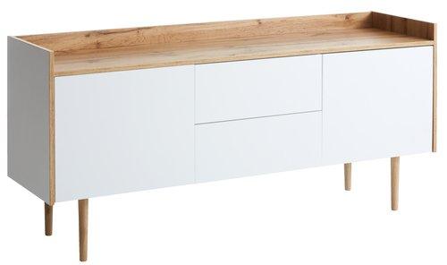 Sideboard AARUP 2 doors white/oak