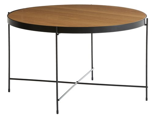 Sohvapöytä HADBJERG Ø70 tammi/musta