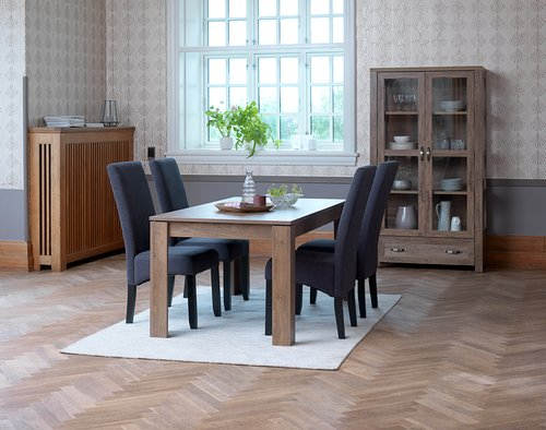 Matbordsstol BAKKELY tyg grå JYSK