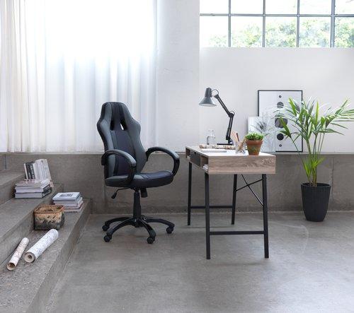 Desk ABBETVED 48x120 cm oak/black