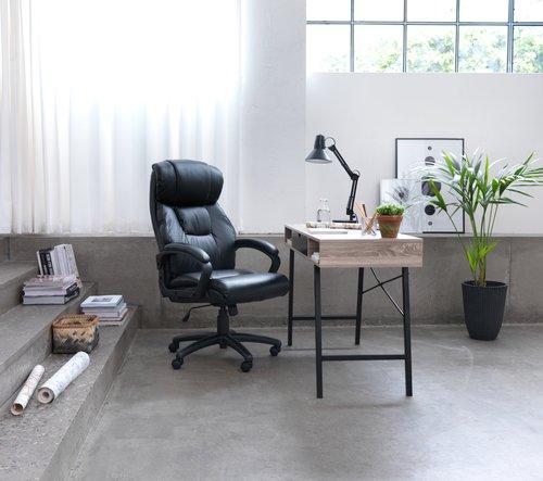 Γραφείο ABBETVED 48x120 δρυς/μαύρο