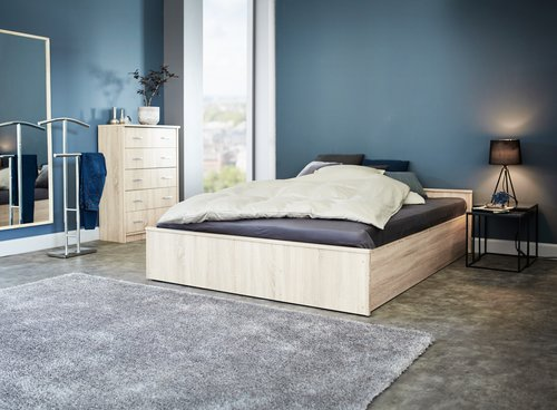 Ram kreveta GENTOFTE 160x200 hrast