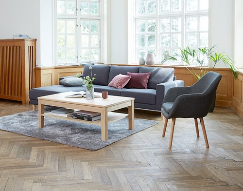Bank EGENSE chaise longue donker grijs