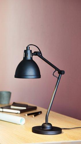 Stolová lampa PATRIK Ø14xV45cm čierna