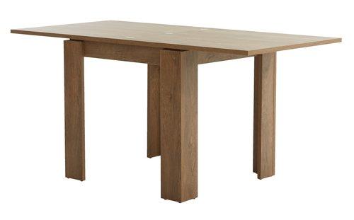 Stół VEDDE 80x80/160 dąb dziki
