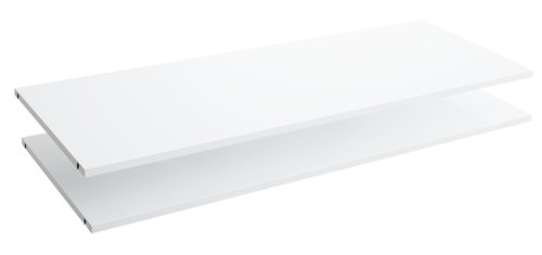 Shelves ONSTED 123x46 2 pack white