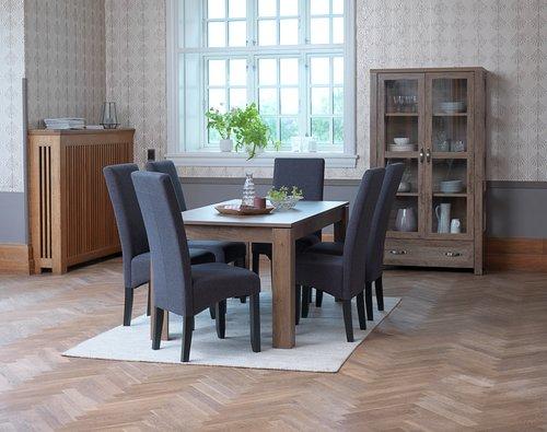 Jedálenská stolička BAKKELY sivá/čierna