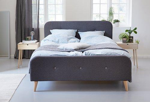 Ліжко KONGSBERG 160x200см сірий