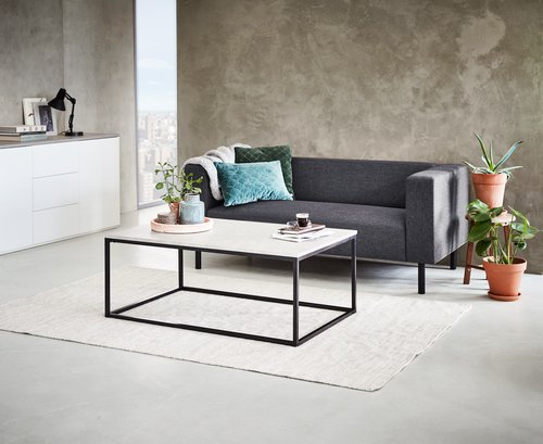 Coffee Table Dokkedal 75x115 Grey Black Jysk
