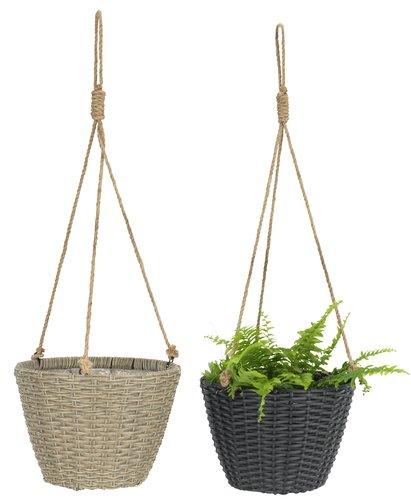Hanging plant pot STORSKARV H19 asstd.