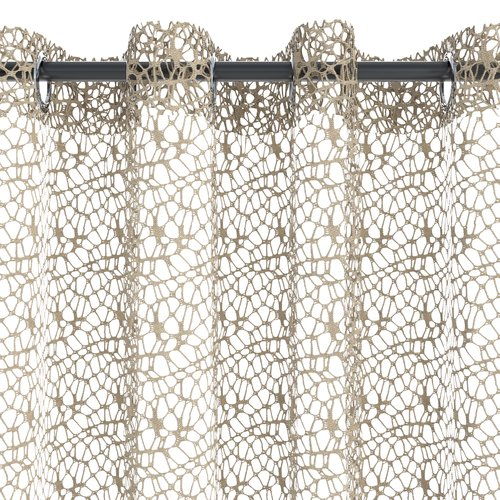 Függöny LURO 1x140x300 pókháló homok