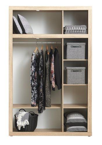Wardrobe FAVRBO 139x220 oak/white