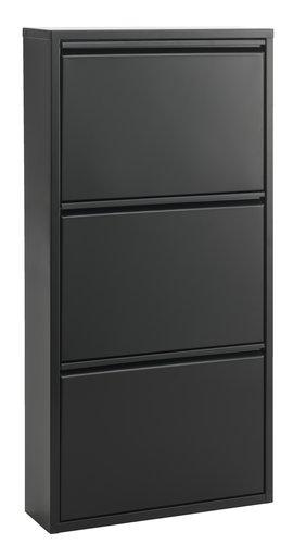 Botník HALLENSLEV 3 přihr. černá