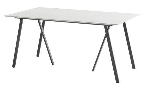 Tafel YSTAD B90xL160 grijs