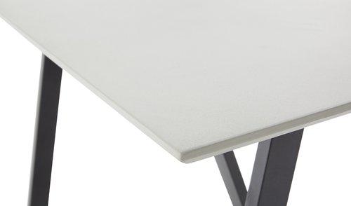 Table YSTAD W90xL160 grey
