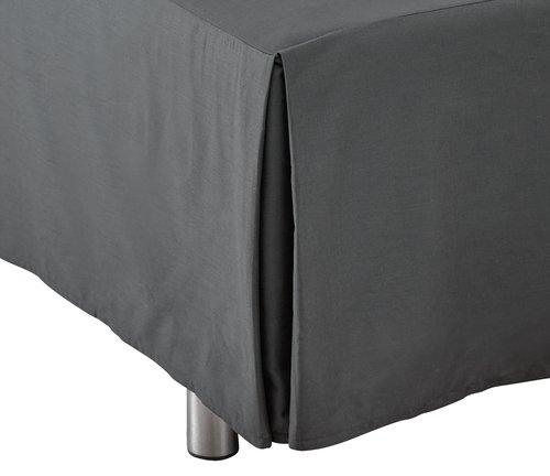 Sängkappa 180x200x45cm grå