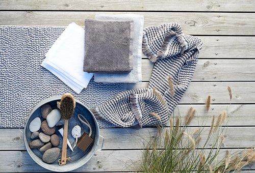 Hand towel LERKIL Organic white SENSE