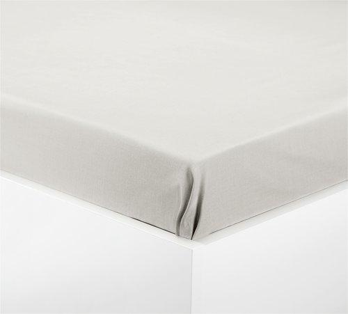 Простыня 140x250см фланель серый