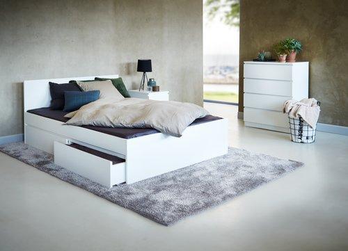 Bed frame LIMFJORDEN SKNG white