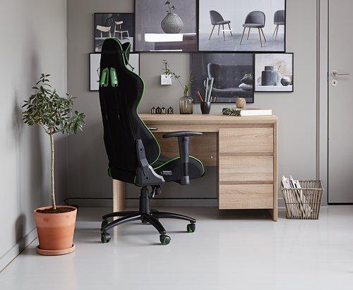 Gaming chair LANGEMARK black/green