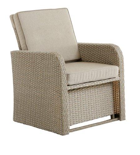 Vrtni lounge stol s taburejem EJLBY