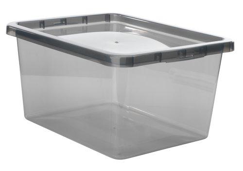 Škatla BASIC BOX 20 L s pokrovom siva