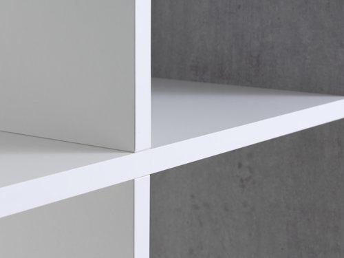 Regal HALDAGER 8 Böden beton/weiß