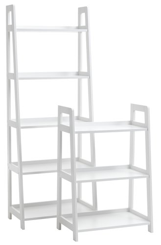 Bookcase HERNING 5 shlv. white